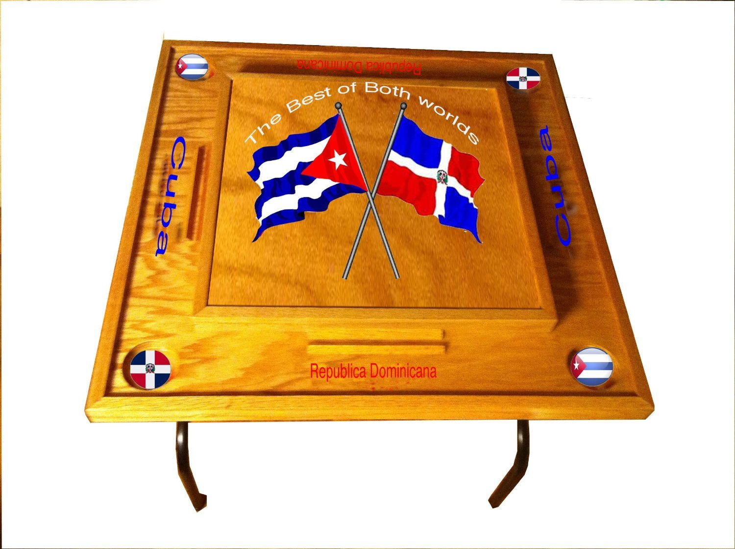 Dominican Republic & Cuba Domino Table by latinos r us