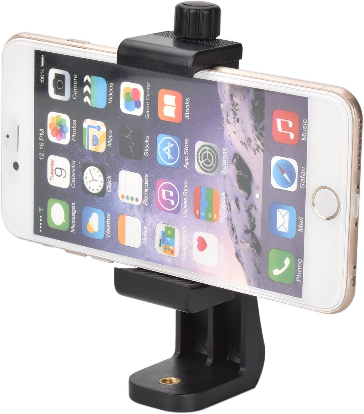 Fit Tripod with 1//4-20 Connection Tripod Mount for Smart Phone up to 6 eLander 360/º Swivel Selfie Video Recording Camera Tripod Adapter Smart Phone Tripod Mount Adaptor