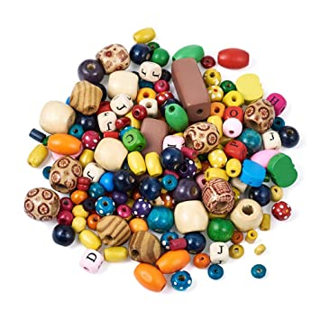 Free Ship 100Pcs Mixed Wood Loose Spacer Beads Fit Jewelry Making 15x7mm