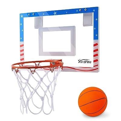 YardFine Mini Basketball Hoop Pro Over The Door with Premium Basketball & Pump Shatterproof Backboard Mini-Hoop Gift for Boys Kids Teens: Toys & Games