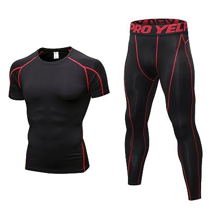 pas de taxe de vente outlet à vendre 100% authentique Niksa 2 Pièces Ensemble de Sport Homme avec Shirt Compression + Collant  Running pour Jogging Athletisme Football Cyclisme Course Gym Tenue de Sport  ...