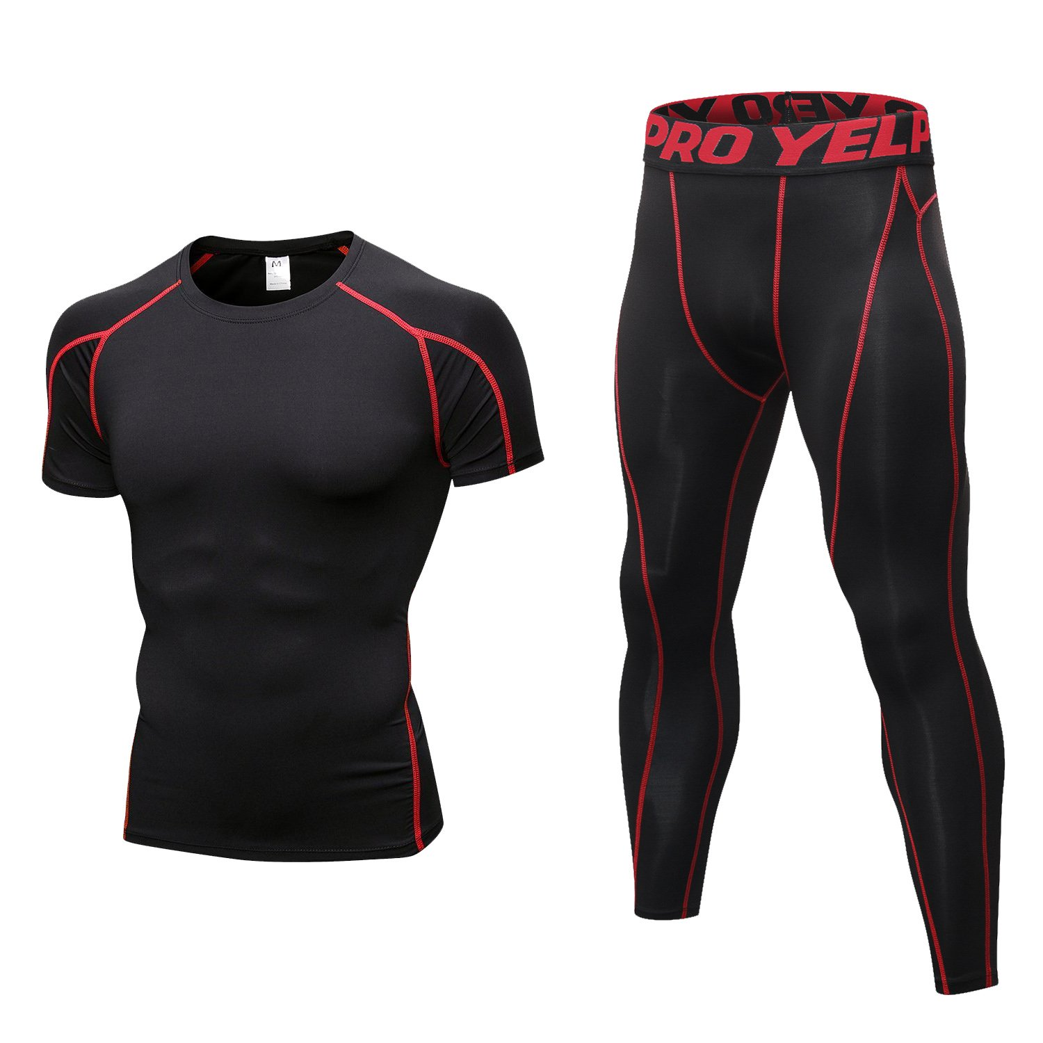 2pcs L Size Mens Sports Compress Body Fitness GYM Tight Leggings Trousers