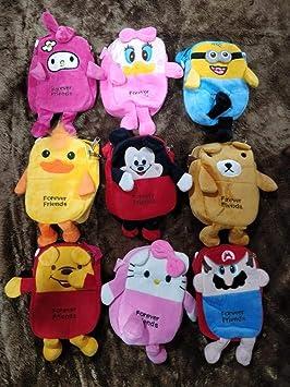 SLV Stuffed Soft Velvet Sling Bag Carton Character Sling Pouch | Multi Color Universal Pouch (Pack of 1)