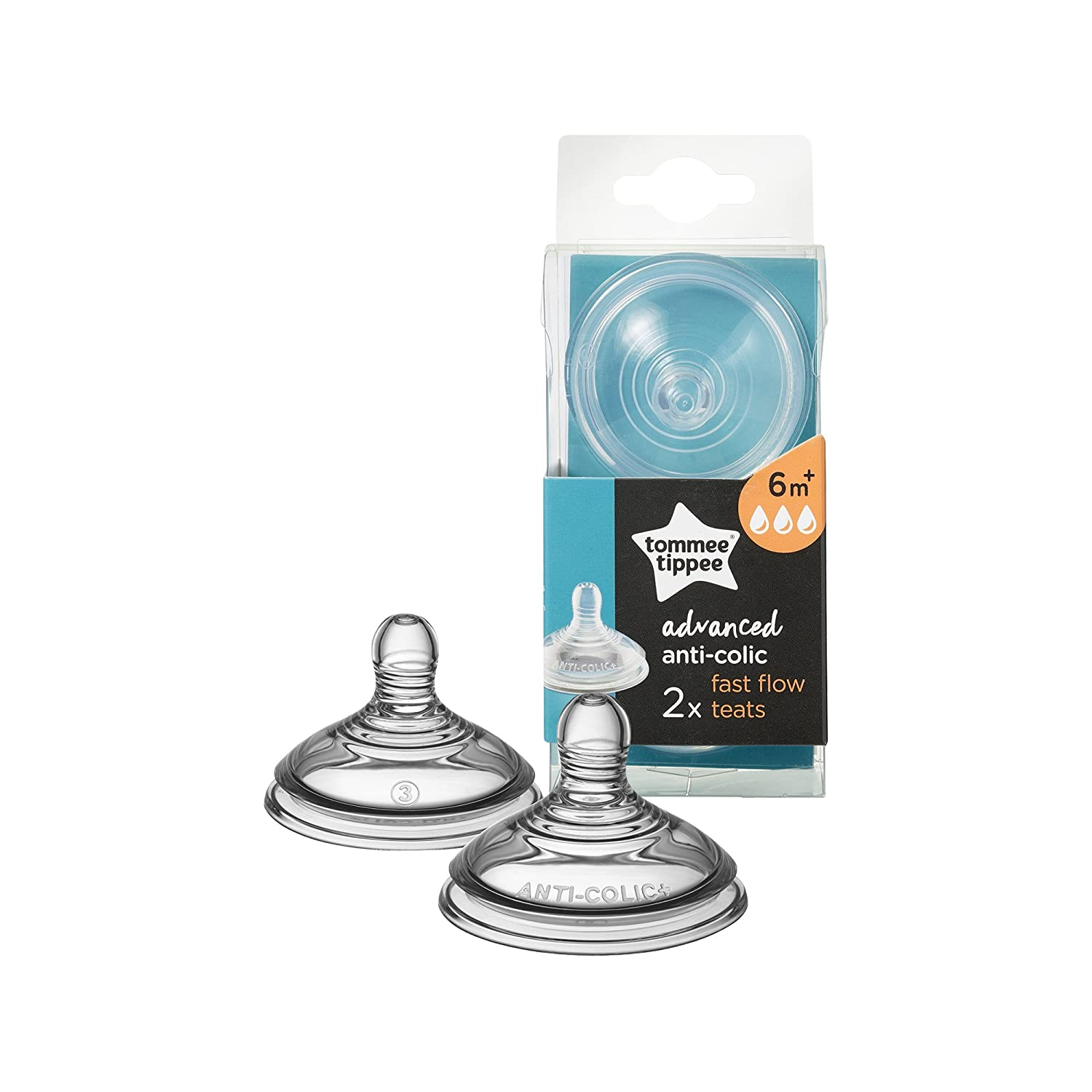 Tommee Tippee Advanced Anti-Colic Fast Flow Teats 2 Count