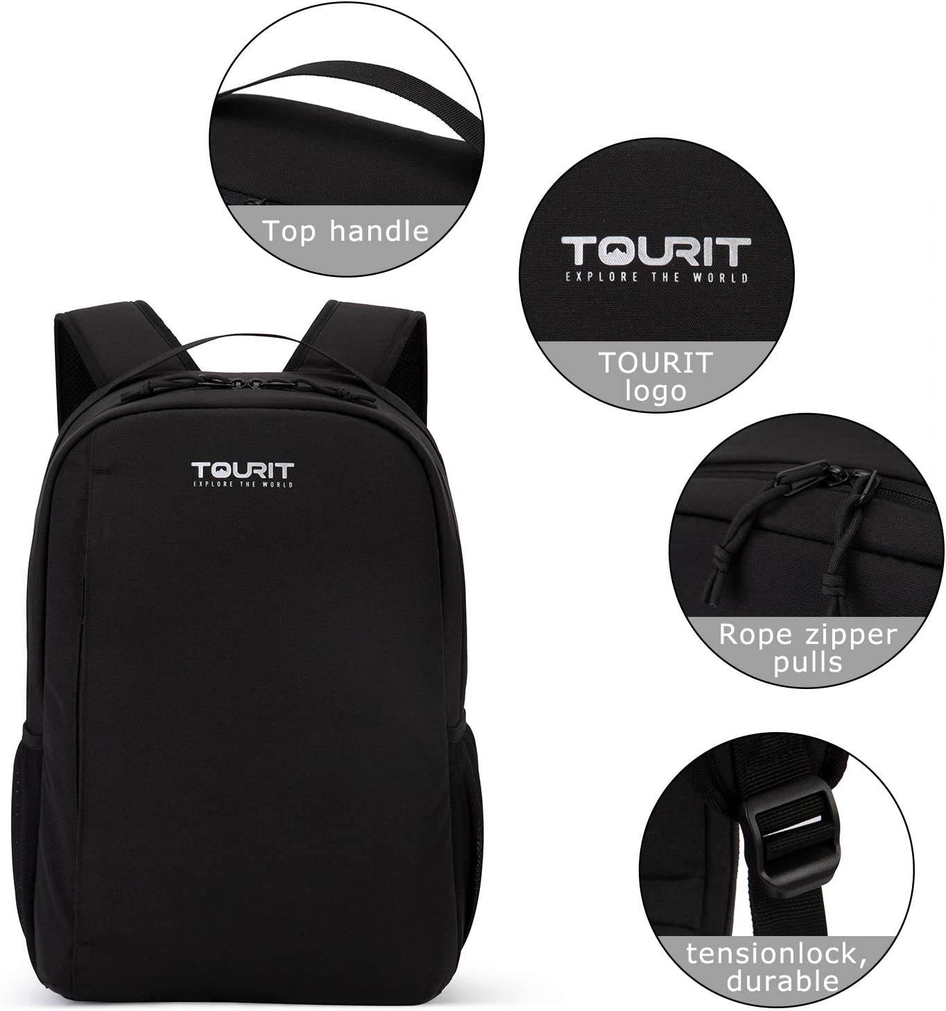 TOURIT Insulated Cooler Backpack Leakproof Lightweight Cooler Bag for Lunch Picnic Hiking Camping Beach Park Day Trips 28 Cans