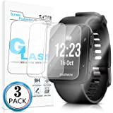 KATIN Garmin Forerunner 35 Screen Protector - [3-Pack] Tempered Glass for Garmin Forerunner 35 Bubble Free with Lifetime…