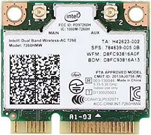 For Hp 710661-001 756753-001 784639-005 Intel Dual Band Wireless-ac 7260 7260hmw Half Mini Pcie Pci-express Wlan Wifi Card Module 802.11 Ac 867mbps Bluetooth Bt