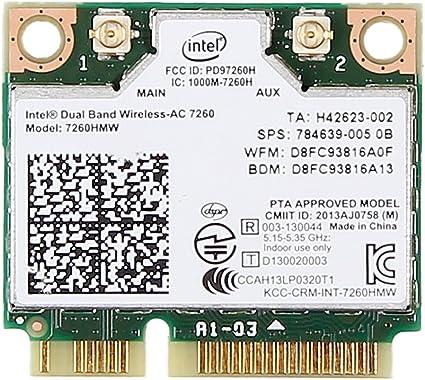 Intel 7260HMW WiFi Wireless 802.11AC 7260 Dual Band Bluetooth BT mini pcie card