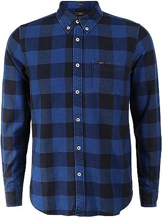 Lee Camisa de Hombre Cuadros Azul/Negro Modelo L882LHCZ 100% Algodón: Amazon.es: Ropa y accesorios