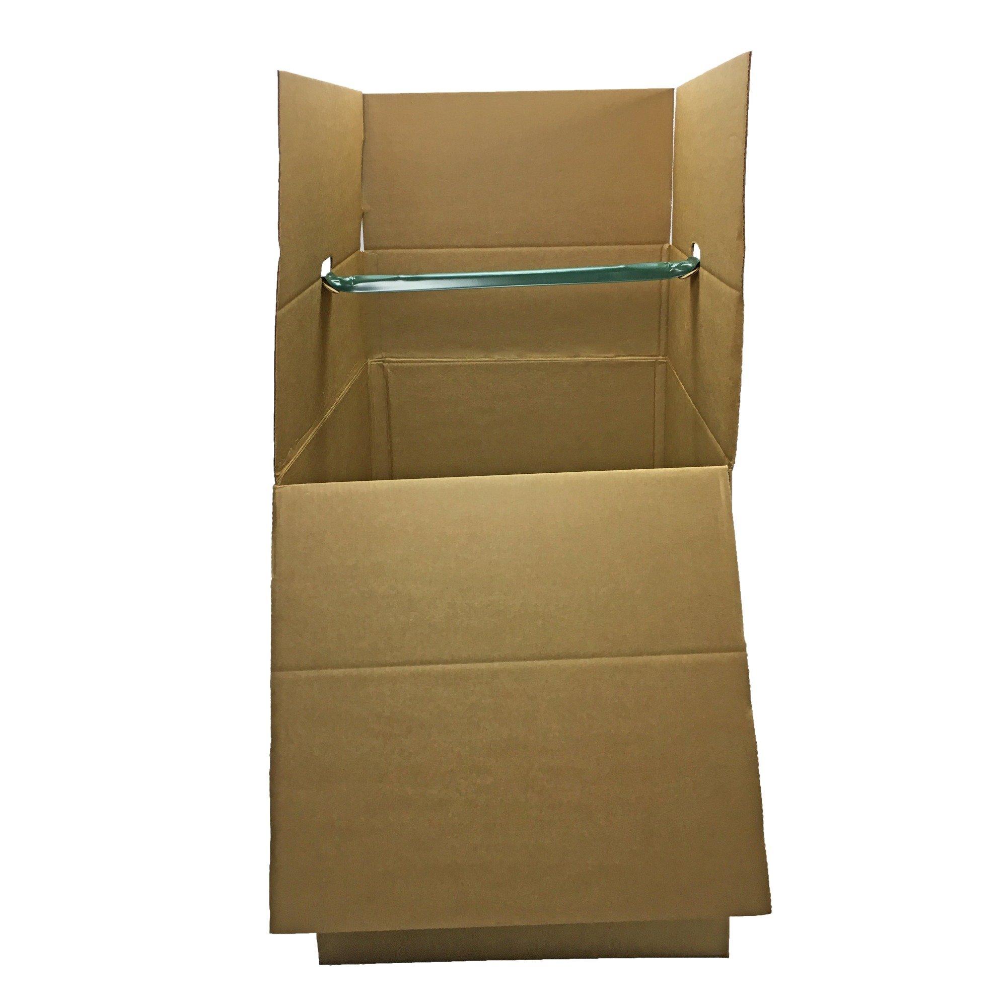 UBOXES Shorty Space Saving Wardrobe Moving Boxes 20 x 20 x 34 Inches Moving Boxes, 1-Pack, Kraft/Corrugated (BOXMINIWAR01)