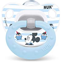 NUK Disney Mickey Mouse Orthodontic Pacifier, 6-18 Months, Blue/White