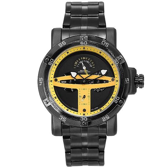 SHARK hombre deportivos Cuarzo relojes de pulseras Acero inoxidable Día Fecha 24 horas Monitor Segunda mano