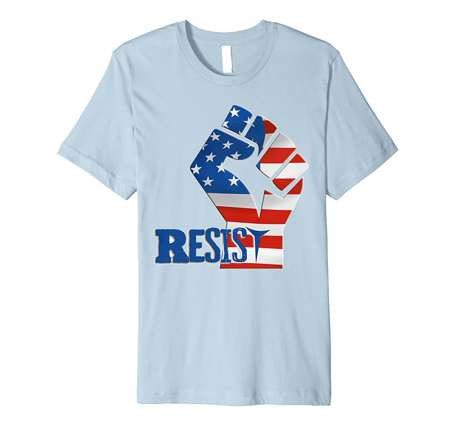 #Resist Fist Anti Trump boycott Impeach Trump T-Shirt-BN