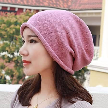 cb507947633 SAIBANGZI Pure Cotton Hat Knitted Hat Shaved Head Scarf Cap And Pregnant  Ear Cap For Men And Women In Pink  Amazon.co.uk  Kitchen   Home