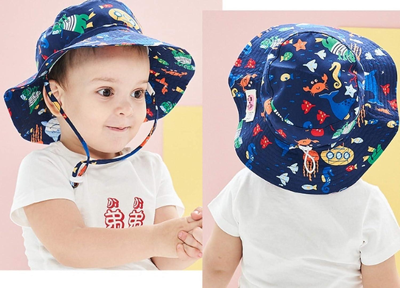 Baby Cartoon Fischerhut Breite Krempe Sonnenhut Sommerhut Sonnenschutz UV-Schutz