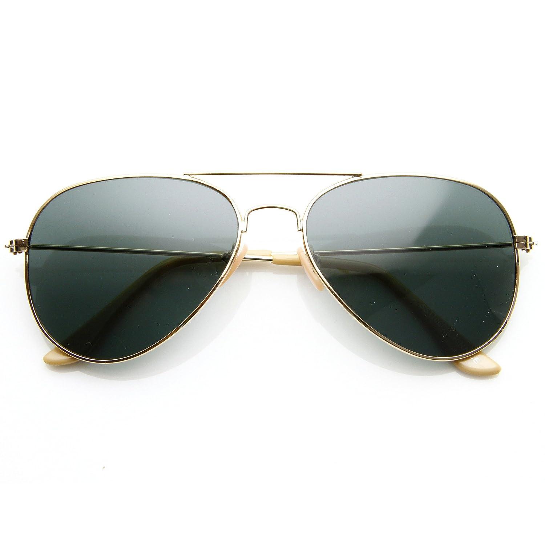 27b41ca03 Amazon.com: SWG EYEWEAR Classic Aviator Nickel Plated Gold Frame Dark Green  G-15 Lens Sunglasses: Clothing