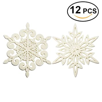 Coasters Set Of 12 Felt Absorbent Snowflake Coaster For Drinks   Desktop  Protection Prevent Furniture Damage