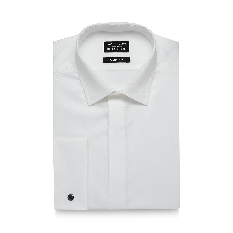 Black Tie Camisa de algodón con Textura de Alto Brillo para Hombre ...