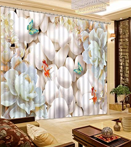 Amazon Com Sproud Creative 3d Curtains Stone Lotus Curtains For