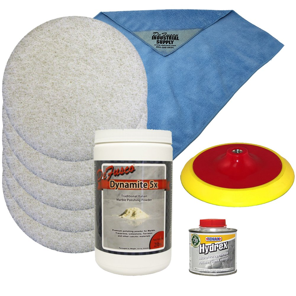 DeFusco Marble Repolishing & Sealing Kit - Refinishing Marble Countertops - Marble Floor Refinishing