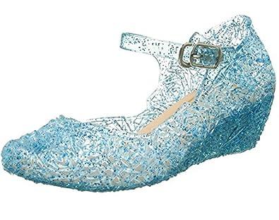 2188a68809e5c9 Kosplay Prinzessin Cinderella Absatz-Schuhe Kinder Glanz Weihnachten  Verkleidung Karneval Party Halloween Fest Mädchen Sandalen
