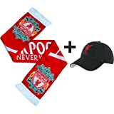 21bbb4c6a322a L.F.C Official Liverpool FC Ultimate Football Fans Baseball Cap   Scarf  Match Day Gift Set