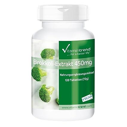 Tabletas de extracto de brócoli 450mg – 120 tabletas - con DIM (diindolilmetano) y