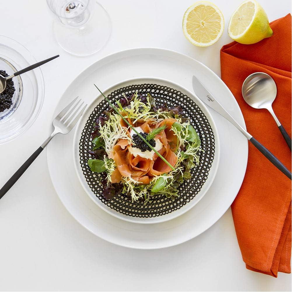 Fork Set - Premium Tableware Flatware Spoons Cutipol Dessert Spoon Kitchen Cooking Forks for Dining Black