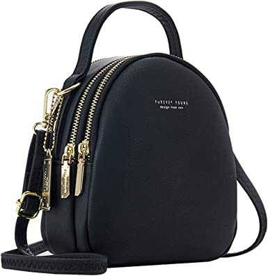 IVIKER Mini Backpack Purse for Women,Small Leather Crossbody Shoulder Bags Messenger Bags and Handbags for Ladies