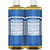 Dr. Bronner Hemp Peppermint Pure Castile Oil Made With Organic Oils Certified - 25 oz, 2 Pack