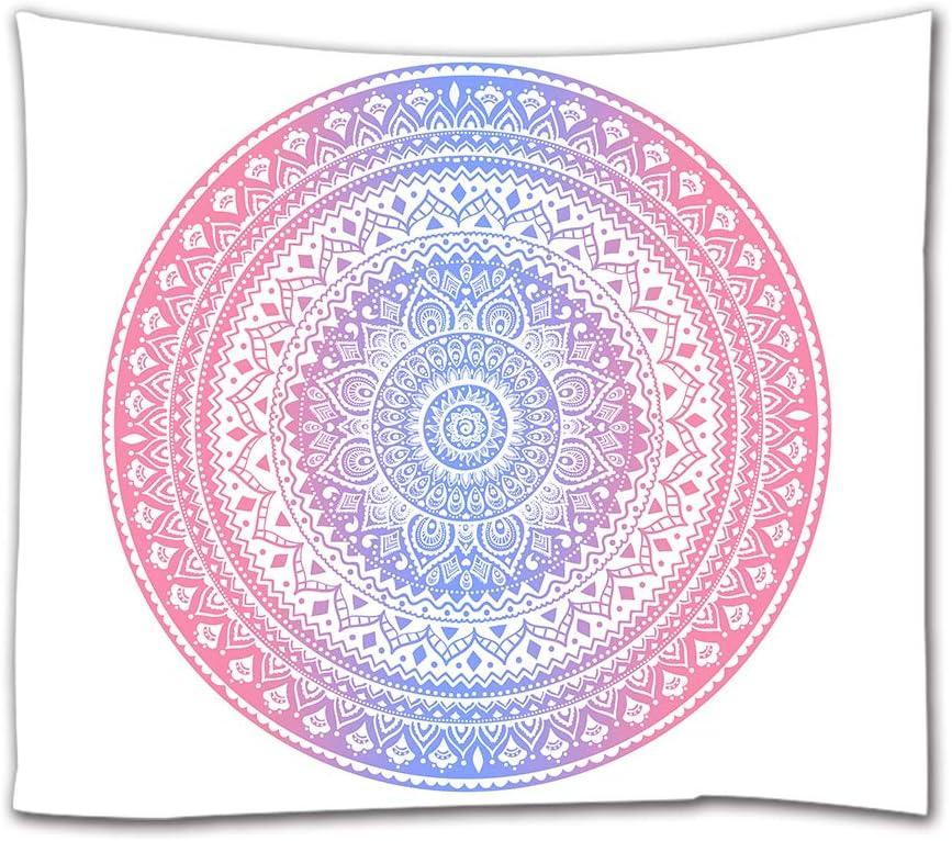 Goodbath dortoir No/ël. Tapisserie murale motif mandala pour chambre violet bleu gris salon 80 x 60 Tissu 200 x 150/cm