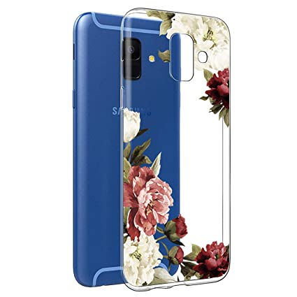 Amazon.com: Funda para Galaxy A6 2018, A6 2018, con flores ...