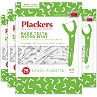 300-Count Plackers Back Teeth Micro Mint Dental Floss Picks