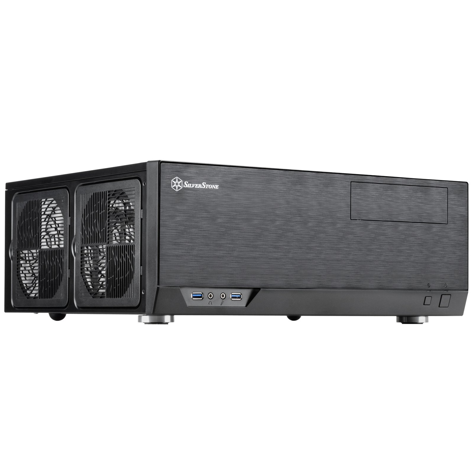 SilverStone Technology Home Theater Computer Case (HTPC) with Faux Aluminum Design for ATX/Micro-ATX Motherboards GD09B by SilverStone Technology (Image #2)