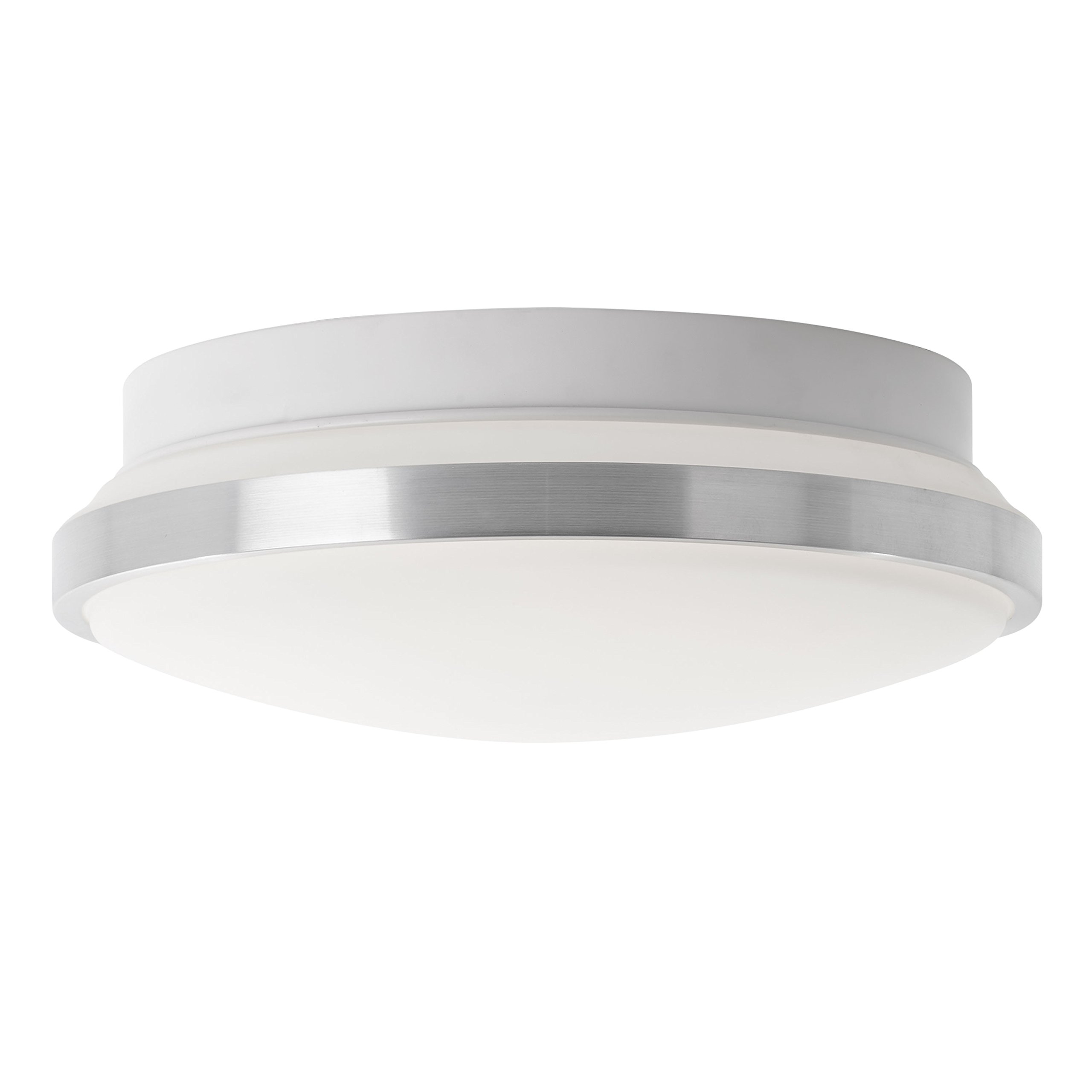 Artika AMP112-CCOM Moonraker 60 Led, 12'' Flush Mount Ceiling Light Fixture with Dimmable Light, Chrome Finish