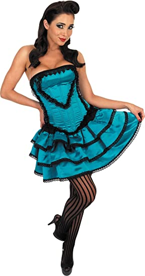 Disfraz de cabaret burlesco azul - M: Amazon.es: Juguetes y juegos