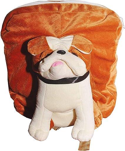 Punyah Creations Dog Full face Toy pithu Bag,Brown