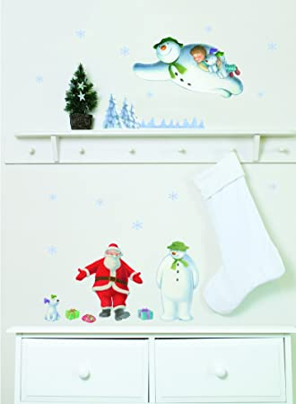 The Snowman And The Snowdog Christmas Wall And Window Stickers - Window stickers amazon uk