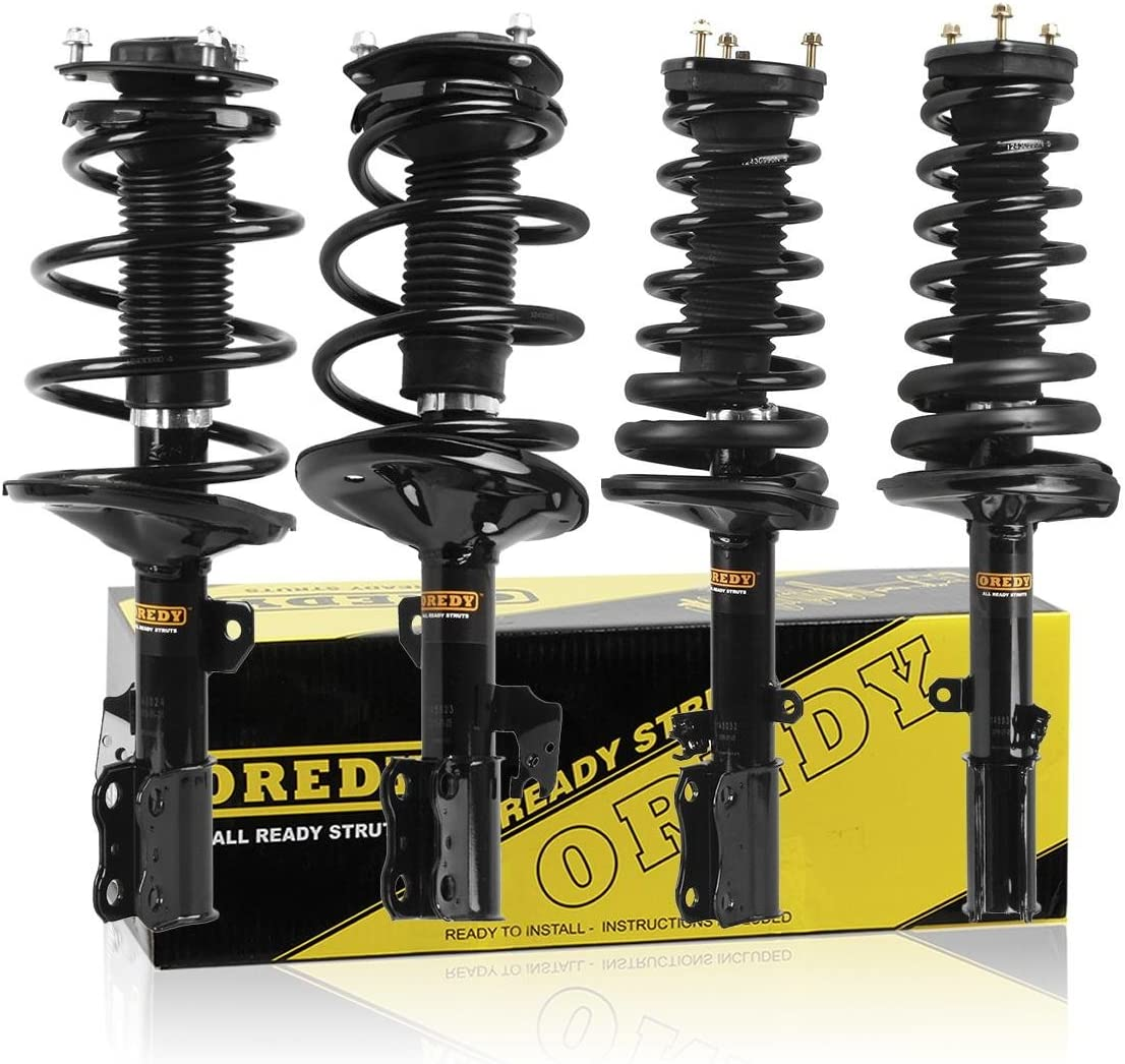 OREDY Front Pair Driver and Passenger Side Complete Struts Shocks Coil Spring Assembly Kit Compatible with LEXUS ES300 2002 2003//TOYOTA CAMRY 2002 2003#SR4055 11701 SR4055 171490