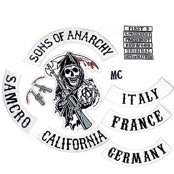 Sons of Anarchy - Parche para Coser Completamente idéntico a ...