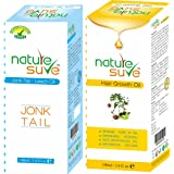Nature Sure combo pack of Jonk Tail and Hair Growth Oil, 110ml pack of each