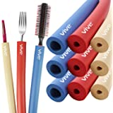 Vive Foam Tubing (9 Pack) - Utensil Padding Grips - Spoon, Fork Round Hollow Medical Closed Cell Tube - Cut to Length - Provi