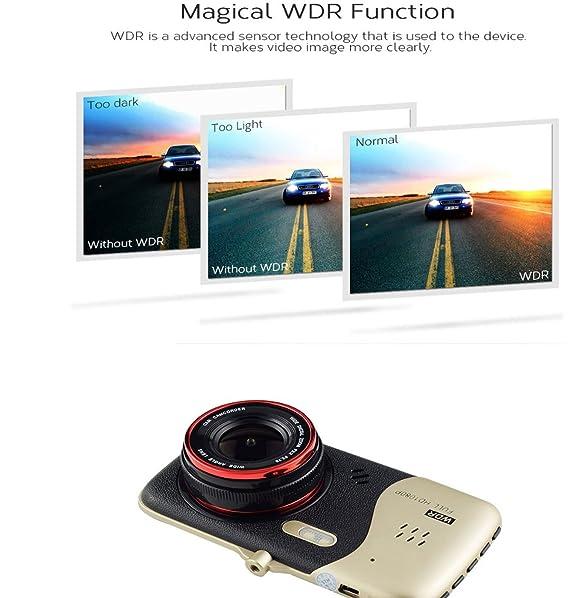 ... Full HD 1080p del coche en el tablero cámara de vídeo recoder DVR 12,0 MP 170 ° visión Gran Angular Visión Nocturna WDR G-sensor detección de movimiento ...
