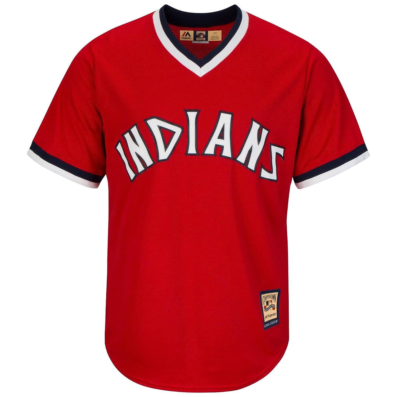 Majestic Cleveland Indians 1974 Cooperstown Cool Base MLB Trikot Rot B018F6CX6O Herren Verrückter Preis