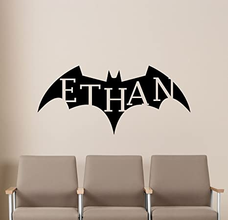 Personalized Name Batman Wall Decal Emblem Logo Custom Superhero Gift Dark  Knight Movie Poster Stencil Artwork