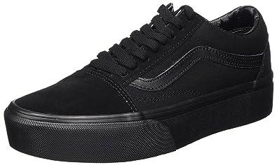 5abddf682a3b Vans Old Skool Platform Black Black Womens Suede Trainers  Amazon.co ...