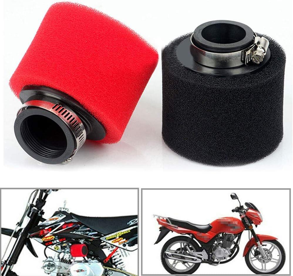 48 mm 45 mm 42 mm 35 mm Schwammluftfilter f/ür Motorroller Motocross ATV Rundreiniger Universalgewinde 40 mm 38 mm