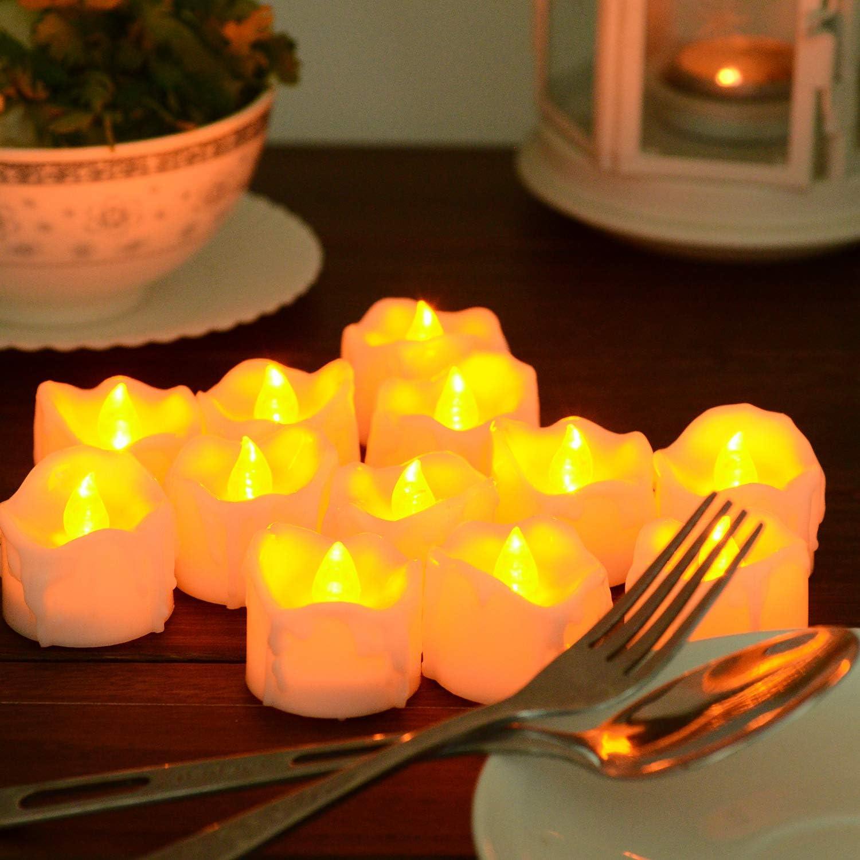 6 horas a y 18 horas de PChero lote de 12 pack bater/ía Alimentado por velas LED Velas LED con temporizador