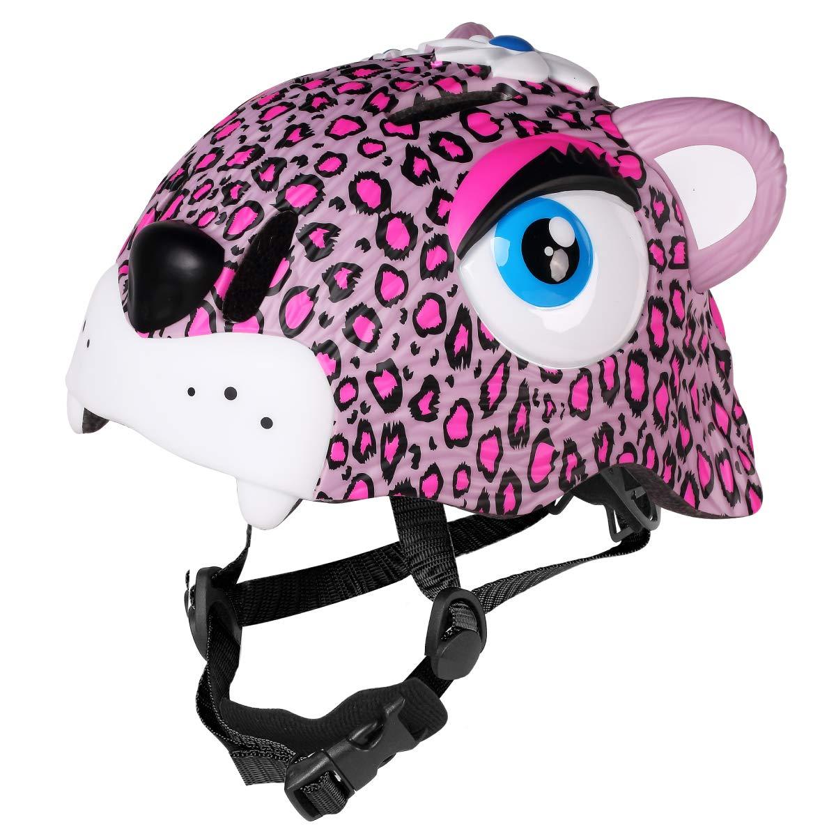 M Merkapa Kids Bike Helmet Adjustable 3D Shark Bicycle Helmets for Toddler and Youth (Panther)