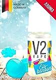 V2 Vape Eisbonbon AROMA/KONZENTRAT hochdosiertes Premium Lebensmittel-Aroma zum selber mischen von E-Liquid/Liquid-Base für E-Zigarette und E-Shisha 10ml 0mg nikotinfrei